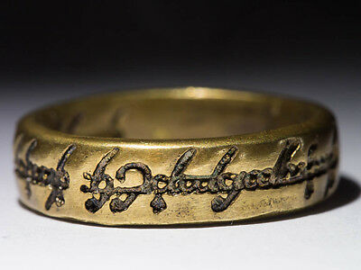 One Ring, The Lord of the Rings, LOTR, brass, size 17 / US 6.5, handmade