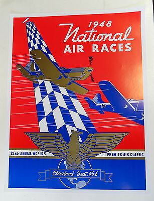 1948 National Air Race Poster- Cleveland Ohio  Sept 4-5-6-