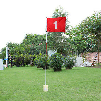 Backyard Practice Golf Flagstick Hole Pole Flag Cup Stick Putting Green Chipping