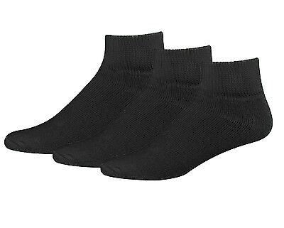 Men's Big and Tall Diabetic Non-Binding Comfort Top Ankle Quarter Socks 3-Pack