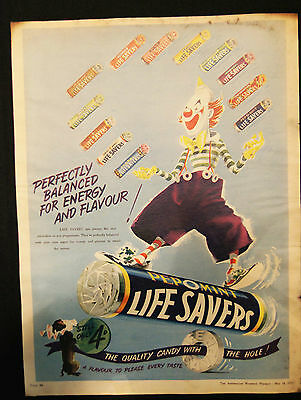 1955 Life Savers Page From Aust Womens Weekly Magazine Vg Condition #12