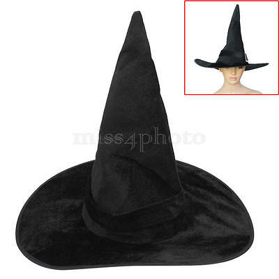 Black Witch Hat Halloween Party Cosplay Fancy Dress Costume Party Accessory