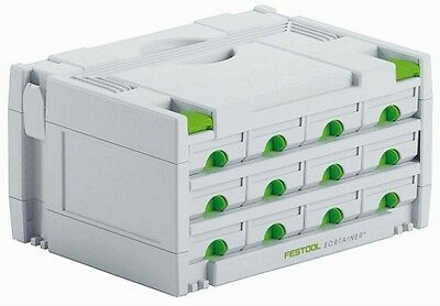 Festool Sortainer SYS 3-SORT/12 - 491986 FREE NEXT DAY DELIVERY