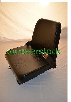 Forklift Seat - Universal - Vinyl - New - Cheap Freight with Seat Belt