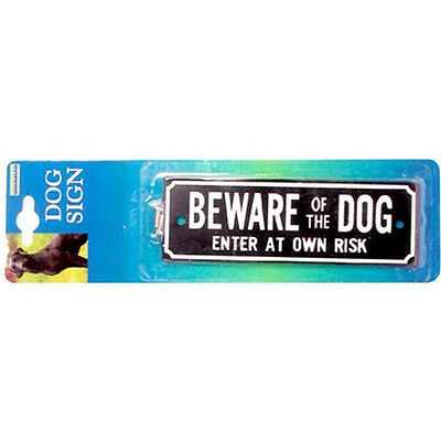BEWARE OF THE DOG sign by Rosewood, Pre drilled for easy fixing,clear to read