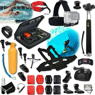 Xtech® for GoPro Hero 4 Slv Edition WINDSURFING Accessories KIT w/ Case + MORE