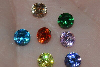 """Flawless"" 4mm Multiple Colored Brilliant Cut Russian Simulated  Diamonds"