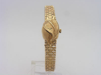 Ladies Vintage Zodiac 14K Yellow Gold Covered Face Flip Up Watch #27486