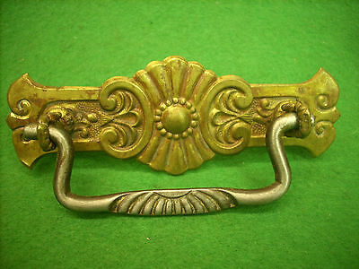 Fancy Victorian Pressed Brass Drawer Pull  - Early    (3219-10)