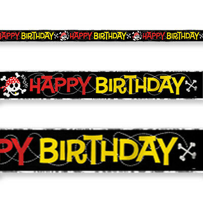 Yo Ho Ahoy Pirate Party Birthday Banner Decorations-Huge 3.6metres-Kids Parties