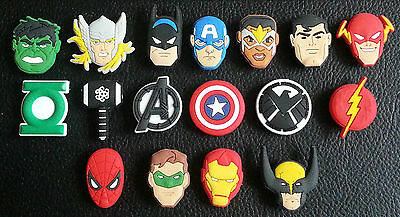 17 x New Avengers Movie Shoe Charms Suitable for Crocs Jibbitz Age of Ultron