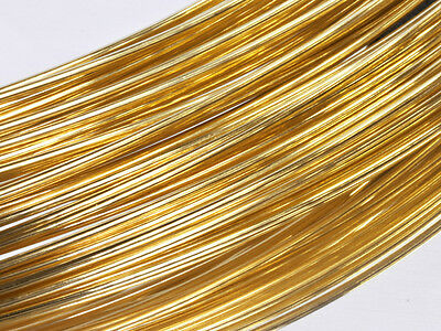 24GA/0.5mm Yellow 12/20 Gold-Filled Dead Soft Round Wire, crafts, wrapping