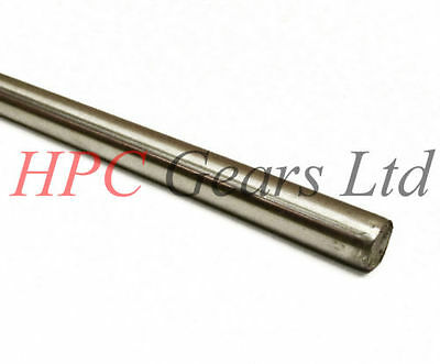 Precision Ground Shaft Rod BS1407 2mm Metric Silver Steel Round Bar 333mm //330mm Lengths