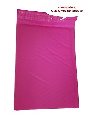 25 6x10 PINK Poly Bubble Mailer Envelope Shipping Wrap Air Mailing Bags 6x9