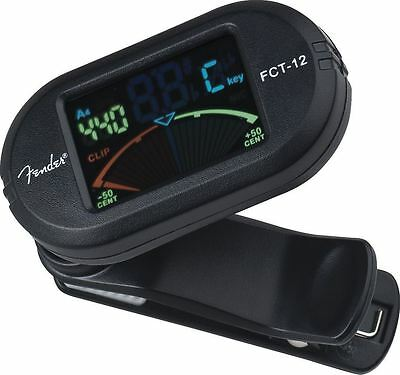 Genuine Fender® FCT-12 Color Clip-On Tuner 023-9978-100 - NEW!