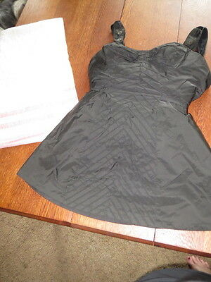 VINTAGE CLOTHING 1950's Catalina FOR THE STARS OF HOLLYWOOD Black Bathing Suit