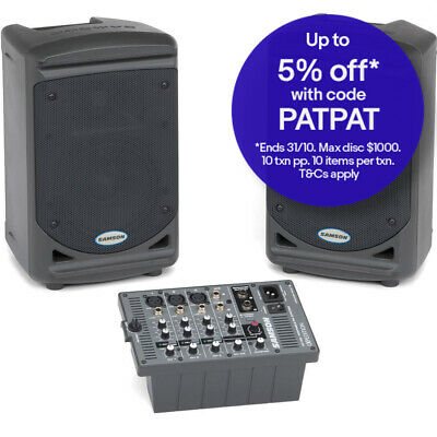 Samson Expedition XP150 150W 5 Channel Mixer/Portable PA Speaker Amplifier/Amp