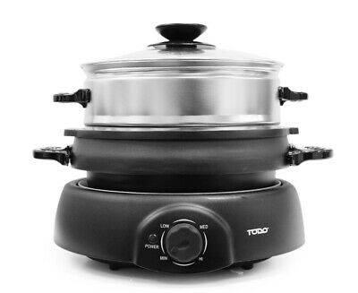 Todo Multi-Function Cooker Boil Steam Grill Tray 4 Power Levels Xj-10103