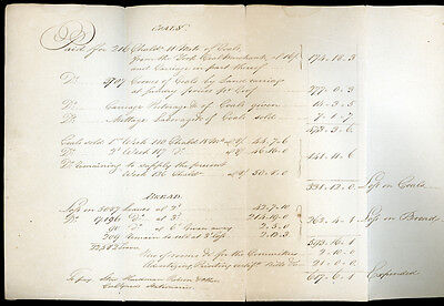 1795 - York poverty - bread & coals for the poor - manuscript, handwritten