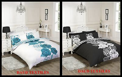 Duluxe & Stylish PolyCotton Lacey 3PCS 68P Duvet Cover With Pillow Bed Bedding