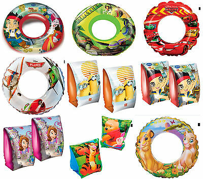 Official Disney Childrens Boys Girls Armbands Swim Rings Swimming Pool Aids