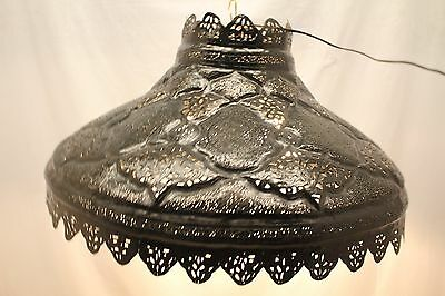 Vintage Large Persian Moroccan Black Dome Chandelier, Hand Crafted! Circa 1940's