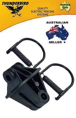 Aussie Made Thunderbird Steel Post Electric Fence Pinlock Insulators 100 Pack