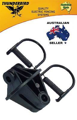 Aussie Made Thunderbird Steel Post Electric Fence Pinlock Insulators 200 Pack