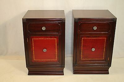 Art Deco Hollywood Regency Pair of Night Bed Side Tables, c. 1940's