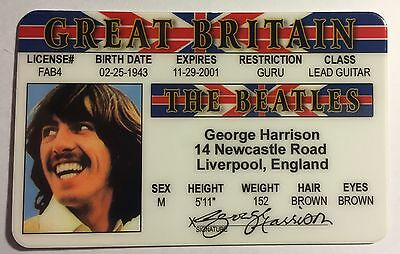 George Harrison - Drivers License - ID Card - Novelty - The Beatles