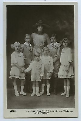 C1910 Rp Npu Postcard Victoria Queen Of Spain And Family R17