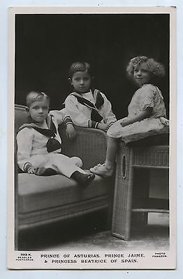 C1910 Rp Npu Postcard Prince Jaime & Princess Beatrice Of Spain R18