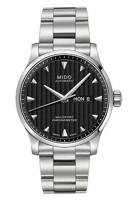 Mido Multifort Automatic Black Dial  Stainless Steel Men's Watch M0054311144100