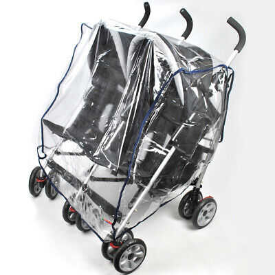 Universal Baby Pram Stroller Rain Storm Dust Cover - Side-By-Side Double