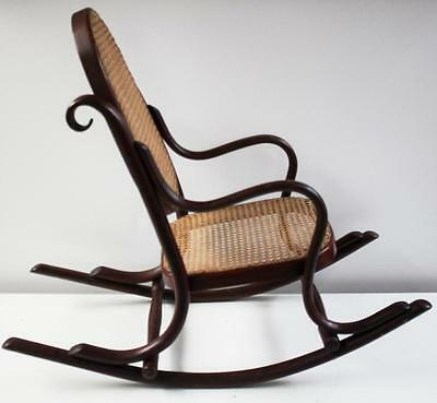Art Deco Bentwood Child's Rocking Chair with Cane Seat - Free Delivery [PL1055]