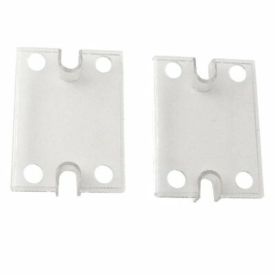 2PCS Neu Safety Cover for Single Phase Solid State Relay SSR Clear Plastic Cover