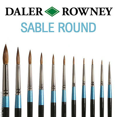 Daler Rowney Aquafine Watercolour Brushes SABLE ROUND