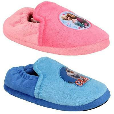 Disney Girls Frozen's Pink Elsa & Anna And  Blue F1F4F4Olaf Themed Slippers