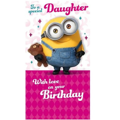 Despicable Me Special Daughter Birthday Card Minion 215