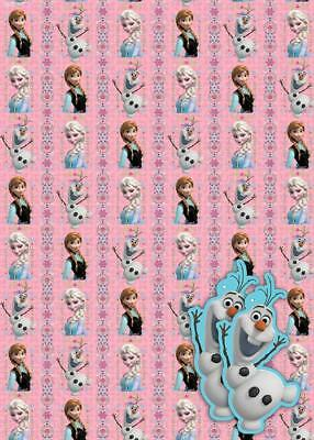 Frozen Gift Wrap 2 Sheets & 2 Tags New Gift Disney