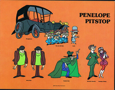 Hanna Barbera STYLE GUIDE PLATE - PENELOPE PITSTOP & The GANG Wacky Races