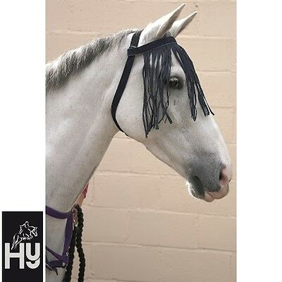 HY FREE FIT FLY FRINGE *no headcollar needed* BLACK, NAVY or PINK **FREE P&P**