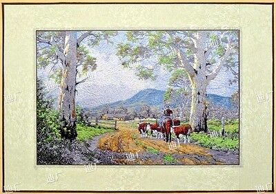 Needlepoint Embroidery finished completed cowboy high quality free shipping