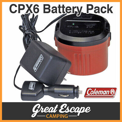 Coleman CPX6 Rechargeable 6V Cartridge Battery Pack. Includes 240V & 12V Charger