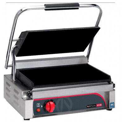 Panini Press / Contact Grill Single Flat Top / Flat Bottom Anvil Axis Commercial