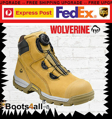 4bdc3a7e3b7 WOLVERINE WORK BOOTS Safety Steel Toe Cap BOA Closure System 6