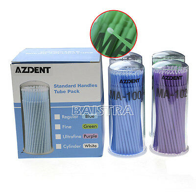 4 Bottles Micro Applicators Micro Dental  Brushes Mixed Size  Disposable