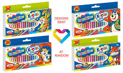 Bambino - Crayons - 24 Colours - For Kids And Teenagers - Kredki Bambino
