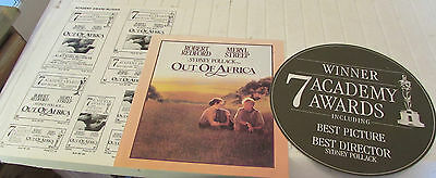 Out Of Africa Press Kit Synopsis Cast Exhibitors Sheet Window Sticker Credits Uk
