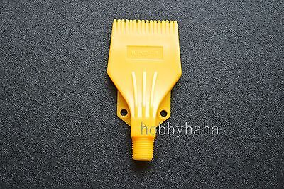 New 1 pcs Yellow  Plastic ABS  Air Nozzle Air Knife 1/4'' H2 Blowing Nozzle